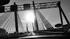 20170106_121816 [ps] - Brace (Anyhoo) Tags: anyhoo photobyanyhoo amsterdam thenetherlands netherlands nederland holland bridge gantry suspensionbridge motorway fromthecar sun lowsun