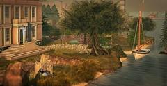 Landscape for Suzi (MoonsoulResident) Tags: commission landscape house home garden trees spring summer