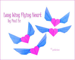 long wing flying heart (polelena24) Tags: origami heart wing valentine paulee triangle