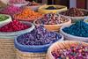 (Bantamgirl) Tags: rainbow colours colourful dried flowers market pot pourri morocca marrakech gift medina baskets