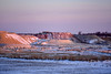 Snowy Quarry at Sunset (thatSandygirl) Tags: winter landscape cold snow sunset gravel light field blue orange trees industry industrial rural outdoors sky colorful