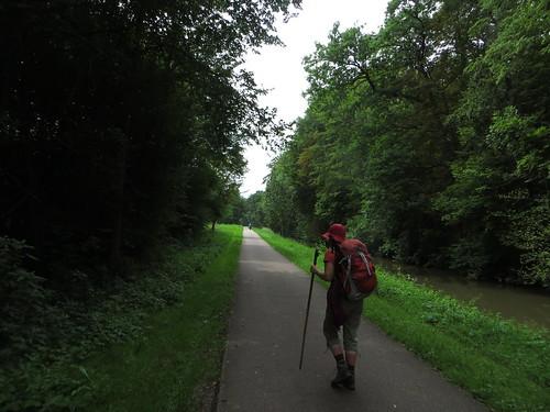 20140806 04 317 Jakobus Kanal Weg Bäume Pilger ElisabethB