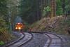 About to crest (MRL 390) Tags: portlandwestern pw pw3001 slug grade summit summitoregon damp moist rainy rainforest forest trees railroad track freighttrain freight train toledohauler oregon