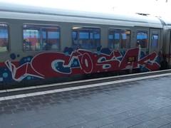 COSAK (mkorsakov) Tags: münster hbf bahnhof mainstation train zug ic intercity graffiti piece bunt colored cosak