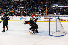 """Kansas City Mavericks vs. Cincinnati Cyclones, February 3, 2018, Silverstein Eye Centers Arena, Independence, Missouri.  Photo: © John Howe / Howe Creative Photography, all rights reserved 2018. • <a style=""""font-size:0.8em;"""" href=""""http://www.flickr.com/photos/134016632@N02/40119453571/"""" target=""""_blank"""">View on Flickr</a>"""
