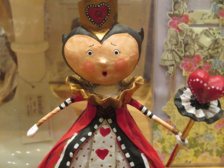 The Queen of Hearts is surprised.