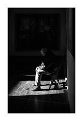 El Hombre del Museo... (protsalke) Tags: museum monochrome light man bw shadows luces sombras life nikon seville sevilla hospitaldelacaridad blackandwhite blancoynegro