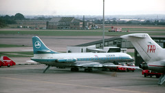 Luxair Caravelle (ƒliçkrwåy) Tags: lxlgg luxair sud caravelle 6r heathrow airport aviation aircraft airliner egll lhr kodachrome