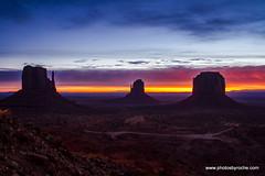 Monument Valley sunrise (doveoggi) Tags: arizona monumentvalley sunrise buttes mittens morning landscape 9244