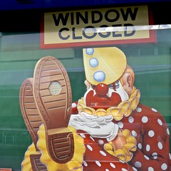 DSCN2069 (danimaniacs) Tags: sydney australia lunapark clown sign colorful