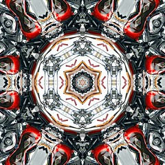 """Gas Tank Kaleidoscope"" red and black Motorcycle Art (delmarvausa) Tags: alteredart perspective artistic art altered unusual kaleidoscope circular spiral spirals circle repeating pattern kaleidoscopeart delmarva delmarvapeninsula gastank motorcycle motorcycyles motorcycleart redandblack motorcycycleart red thecolorred thingsthatarered"