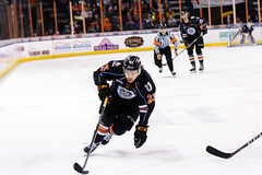 """Kansas City Mavericks vs. Florida Everblades, February 18, 2018, Silverstein Eye Centers Arena, Independence, Missouri.  Photo: © John Howe / Howe Creative Photography, all rights reserved 2018 • <a style=""""font-size:0.8em;"""" href=""""http://www.flickr.com/photos/134016632@N02/40387902481/"""" target=""""_blank"""">View on Flickr</a>"""