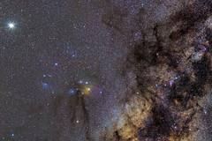 Júpiter, Marte, Rho Ophiuchi, Escorpio y mucho más.jpg (danr19f) Tags: víaláctea centrogaláctico galacticcenter milkyway widefield campoamplio astrophotography astrofotografía canoneos6d staradventurer pipinas astropixelprocessor