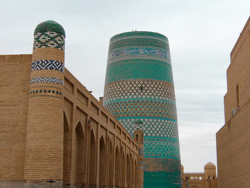 Le minaret Kalta Minor, à Khiva