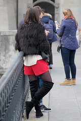 Fluffy Jacket 3 (booster_again) Tags: shorts tights pantyhose boots