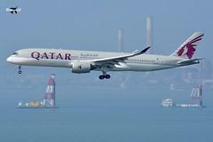 Qatar Airways Airbus A350-941 A7-ALF. (* Raymond C.*) Tags: qatar airways airbus a350 a359 a350941 a7alf qr hkg vhhh