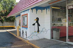 Chilly Willy (Flint Foto Factory) Tags: flint michigan genesee county urban city summer august 2017 hometown annual back to the bricks car festival show week east eastside banana boat ice cream 3826 davison rd center mural former dairy queen drive thru fast food frozen treat treats penguin chillywilly cartoon drivethru window americana fastfood restaurant