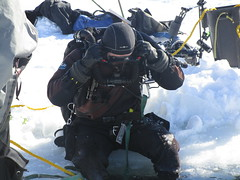 Breather and rebreather (chemsuiter) Tags: rebreather icedive icediving lakesuperior diveclass divetraining munising drysuit