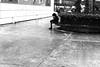 On the edge of the edge (pascalcolin1) Tags: paris13 homme man bord edge neige snow banc bench photoderue streetview urbanarte noiretblanc blackandwhite photopascalcolin 50mm canon50mm canon