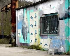 "Xabier Anunzibai ""Urrun / Far away"" (Thethe35400) Tags: artderue arteurbano arturbain arturbà arteurbana calle grafit grafite grafiti graffiti graffitis graff mural murales muralisme plantilla pochoir stencil streetart schablone stampino tag urbanart"