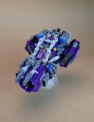 Brigand (Greeble_Scum) Tags: lego moc build creation future city vehicle speeder hover gun weapon greeble mini figure purple cyber punk