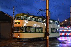 Blackpool Transport 718 (Will Swain) Tags: blackpool 7th october 2017 north west coast coastal tram trams light rail railway rails transport travel europe tramway lancs lancaster 718