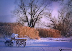 Winterimpression am Chiemsee (john_berg5) Tags: 2016 chieming chiemsee landschaft see sonnenuntergang winter snow clouds frost