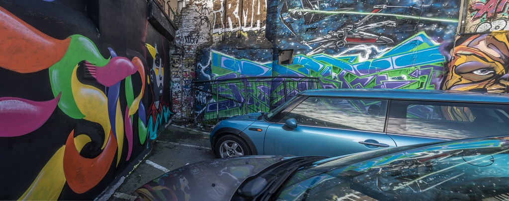 STREET ART AT THE TIVOLI CAR PARK IN DUBLIN [LAST CHANCE BEFORE THE SITE IS REDEVELOPED]-135611