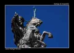 Santiago de Compostela. (jmadrigal09) Tags: jmadrigal santiagodecompostela escultura art arte ecuestre galicia españa