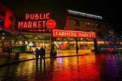 Christmas with Strangers (PatT&5) Tags: seattle farmers market downtownseattle pikeplacefarmersmarket