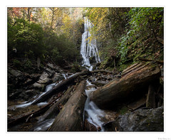 Mingo Falls (John Cothron) Tags: 15mm americansouth cpl canoneos5dmkiv carlzeiss carolinas cherokee cothronphotography distagon1528ze dixie johncothron mingocreek nc northcarolina quallaboundarylandtrust southatlanticstates southernregion swaincounty thesouth us usa unitedstatesofamerica zeissdistagont2815mmze afternoonlight autumn circularpolarizingfilter deadtree fall falling flowing forest landscape log longexposure nature outdoor outside partlycloudy rock scenic water waterfall img21332171024 ©johncothron2017 mingofalls