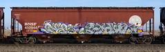 Nas/Stain (quiet-silence) Tags: graffiti graff freight fr8 train railroad railcar art nas nme ant allnation stain eds cik hopper bnsf bnsf450944