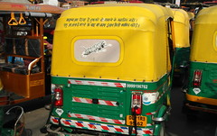 delhi tiger (kexi) Tags: delhi india asia taxi yellow tiger green samsung wb690 traffic february 2017 text licenceplate instantfave
