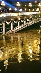 230 Paris Janvier 2018 - Pont Alexandre III (paspog) Tags: paris france nuit night nacht janvier januar 2018 january seine pont brücke bridge pontalexandreiii flood inondation crue salamandre salamander