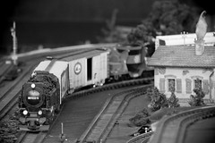 Train-show '18, Morton Arboretum. 3 (EOS) (Mega-Magpie) Tags: canon eos 60d indoors train show the morton arboretum lisle dupage il illinois usa america bw black white mono monochrome