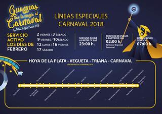 Líneas Especiales del Carnaval 2018