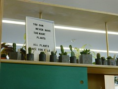 """""""You can never have too many plants"""" : The Hepworth @ Wakefield (SMLawn) Tags: plants cactus sign"""