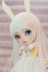 Pamyurin ♥ (-Poison Girl-) Tags: pullip pullips doll dolls custom customs faceup makeup poisongirlsdolls poisongirldolls poison girl handmade handpainted repaint repainted paint pamyurin 2018 bunny headband eyes eyechips blue realistic sweet colorful cute eyelashes eyebrows freckles nose carving carved mouth lips lip long wig straight hair turquoise pink junplanning jun planning groove grooveinc obitsu body