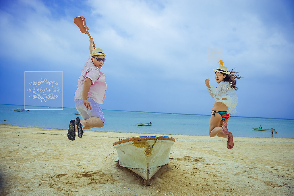 海外婚紗,婚禮,攝影,自助,旅拍,國外,日本,沖繩,琉球,新原海灘,Mibaru Beach