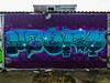 Neuro Quiddled While Rome Burned? (Steve Taylor (Photography)) Tags: neuro btk smeagol arrow art graffiti mural streetart blue mauve purple newzealand nz southisland canterbury christchurch newbrighton star outline