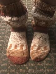 Brown Wool Socks by Tangles (jeremyv3) Tags: sock feet knitted knit slouchy sockfetish wool socks