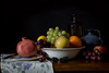 Still Life (Andy Colebrooke) Tags: pomegranate grapes apples oranges blackberries still life lemons