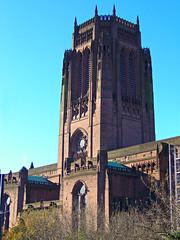 Liverpool Cathedral, England (teresue) Tags: 2017 uk england unitedkingdom liverpool merseyside albertdock salthousedock liverpoolcathedral gothic cathedral stjamesmount churchofengland