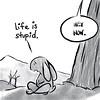 People are stupid  (2 0f 4) (Scruffy Mynxbane) Tags: christ jesus stupid people heart hard hate suffering depression counseling