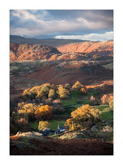 Washing Day (Dave Fieldhouse Photography) Tags: lakedistrict lakes fells cumbria nationalpark langdalevalley autumn portrait trees cottage clouds bracken red fuji fujifilm fujixt2 wwwdavefieldhousephotographycom landscape outdoors countryside rural farmhouse fields england uk greatbritain photography