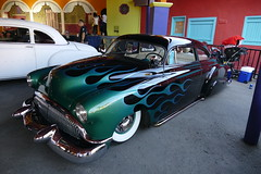 saturday drive in 239 (bballchico) Tags: 1950 chevrolet styleline custom chopped flames leadsled deadsledscc johnnydelarosa grandnationalroadstershow carshow saturdaydrivein