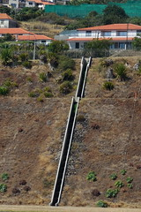 Stairway for water (Steenjep) Tags: madeira portugal ferie holiday urlaub funchalairport airplane airfield runway truck landscape sky