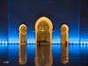 Yellow and Blue (MF[FR]) Tags: architecture illuminated spiritualism night nuit light lumière samsung nx1 abu dhabi abou dabi emirates eau uae golfe persique gulf arches mosquée sheikh zayed