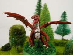 dragon1 (Giantnerdguy) Tags: dragon red green trees tree bush model mini miniature reaper paint painting