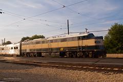 Zephyr Glint (tim_1522) Tags: railroad railfanning rail illinois il illinoisrailwaymuseum irm union e9am bn burlingtonnorthern nebraskazephyr emd